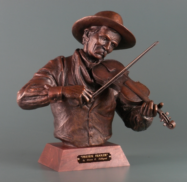 cowboy playing a fiddle